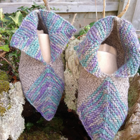 Knitted Pixie boot slipper socks.   UK Adult size 9.5 - 10