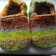 Handmade Childrens slippers or indoor shoes UK Size 4 (12-18 months)