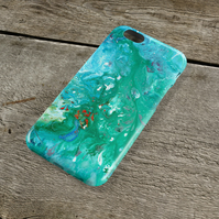 All at Sea iPhone Case - Turquoise & Peppermint Green Unique Abstract Art iPhone
