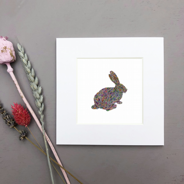 'Bunny' Mini Mounted Print
