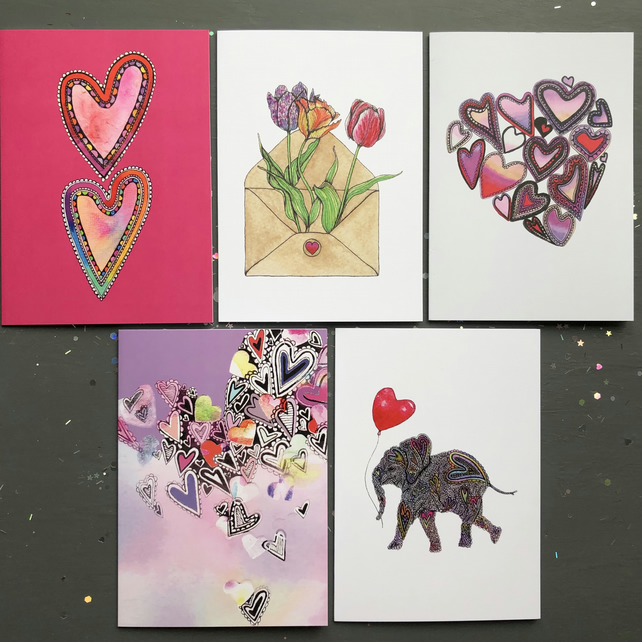SALE! Set of 5 cards