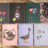 SECONDS SALE! Pack of 7 Greeting Cards