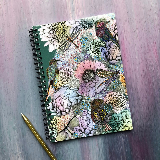'Secret Garden' A5 Notebook