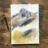 Over Owler Tor West PRINT - Peak District Landscape painting