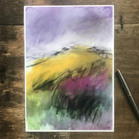 White Tor, Derwent Edge PRINT - Peak District Landscape art print