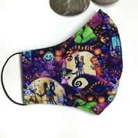 Halloween Jack and Sally Reusable Face Covering