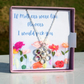 Mothers day Gift & card in a box with Sterling silver flower necklace
