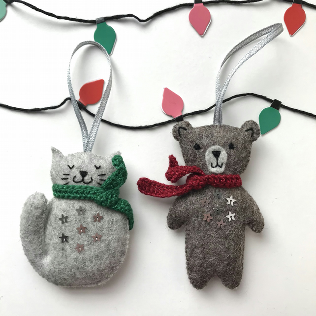Cosy Creatures Christmas Tree Decorations
