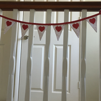 Red and White Mini Bunting