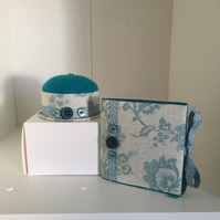 Pincushion And Needlebook Set