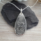 Embossed Robin Pendant Sterling Silver Hallmarked