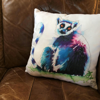 Lemur Faux Suede Cushion