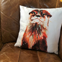 Otter Vegan Suede Cushion
