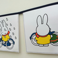 Book bunting - Miffy's bicycle