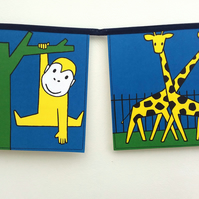 Book bunting - Miffy at the Zoo