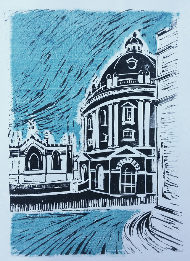 Radcliffe Camera Oxford - linoprint