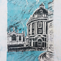 Radcliffe Camera Oxford - linoprint on tissue