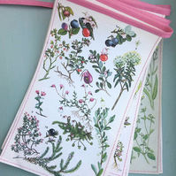 Vintage floral bunting - pink and green