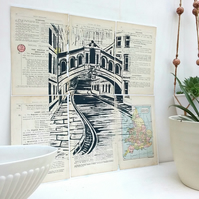 Bridge of Sighs Oxford - on vintage pages