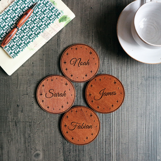 Personalised Drinks Coasters - Gift Boxed