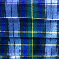 Gordon Tartan pleated face covering