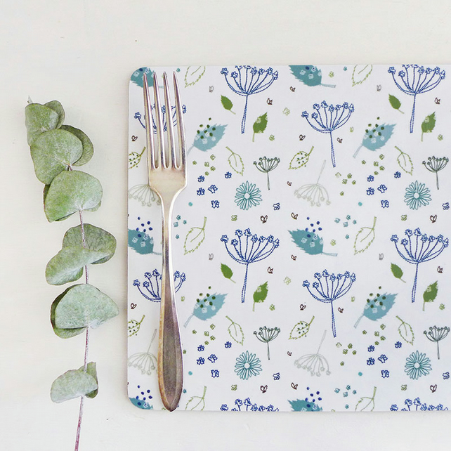 Blue Parsley Placemats