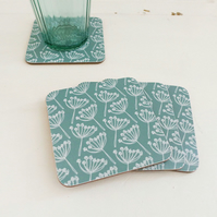 Seagreen Cow Parsley Coasters