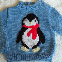 """Hand Knitted Boys Jumper 18"""" chest"""