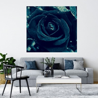 TURQUOISE ABSTRACT ROSE.