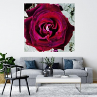 RED ABSTRACT ROSE.