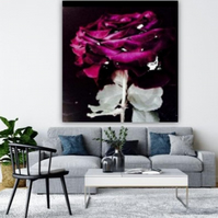 MULBERRY ABSTRACT ROSE.