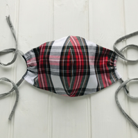 Cotton Face Mask with Filter Pocket - Argyle Tartan