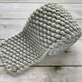 Hand Knitted Chunky Knit Scarf - Grey