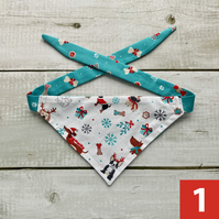EXTRA SMALL Reversible Dog Bandanas - Various Designs
