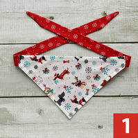 SMALL Reversible Dog Bandanas - Various Designs