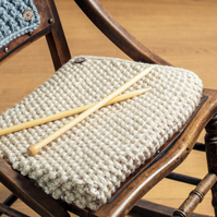 Chunky Knit Baby Blanket - Cream 1