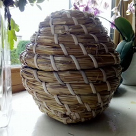 Traditional beehive storage, Medieval straw skep, thrift, hobby, wedding