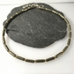 Pyrite 18ct gold and sterling silver necklace