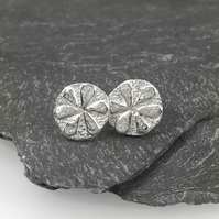Sterling silver flower stud earrings Bloom