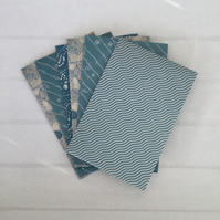 6 Seaside Envelopes 6x4 inches in Sea Blues Vintage Shabby Style