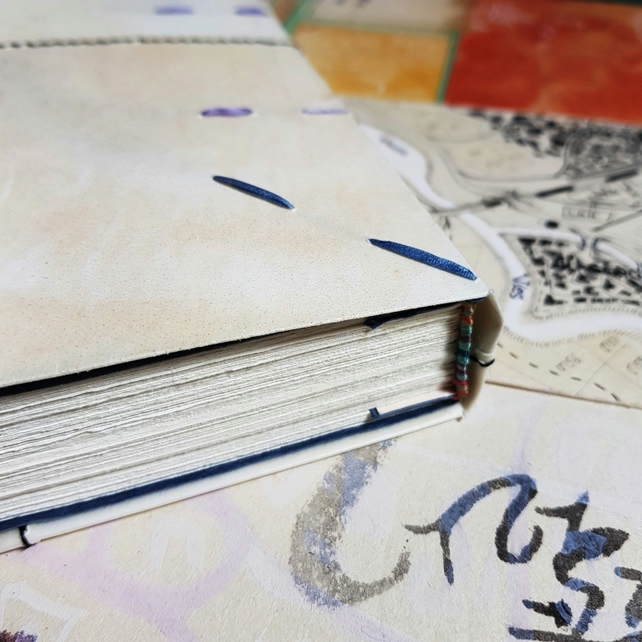Parchment Journal in Medieval Style, Patched up Vellum