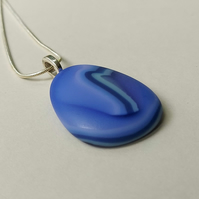 Periwinkle blue glass pendant