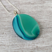 Pebble Style Pendant, Summer Seas 10