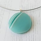 Round Glass Pebble Pendant and Choker