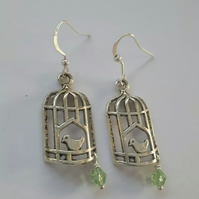 SALE Birdcage Crystal Earrings