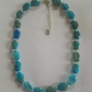 Blue Crazy Agate Knotted Necklace