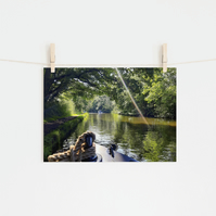 Boat Bow in Sun Rays, Fine Art Photography Print, Various Sizes Available