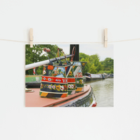 Colourful Boat Art, Fine Art Photography Print, Various Sizes Available