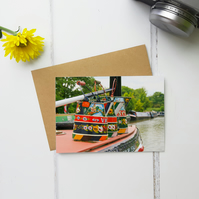 Colourful Boat Art, Greeting Card, Fine Art Photograph, Two Sizes Available