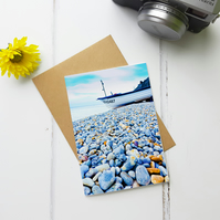 Blue Pebbles, Greeting Card, Fine Art Photograph, Two Sizes Available